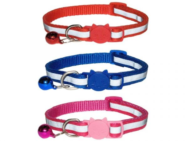 Reflective Cat Collar, Pack of 3
