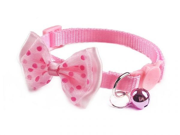 Bow Style Cat Collar – Pink