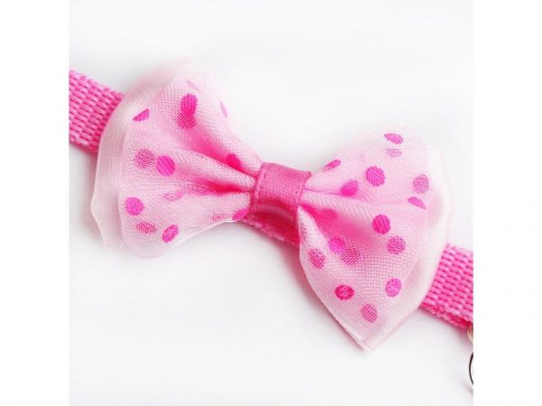 Bow Cat Collar – Pink