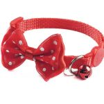Bow Style Cat Collar, Red (Single Pack)
