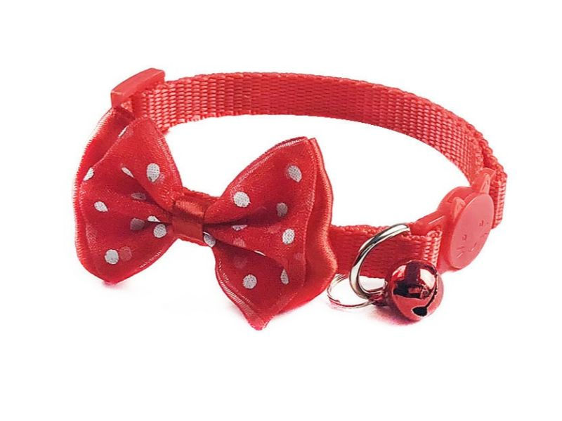 Bow Style Cat Collar – Red