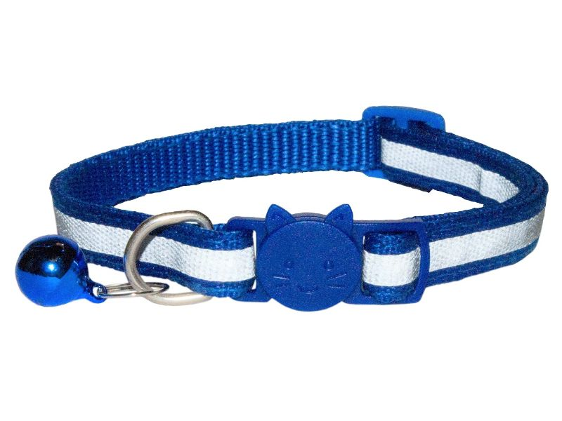 Reflective Cat Collar, Blue (Single Pack)