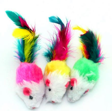 Multi Colour Mice Cat Toy, Firm (Random)...