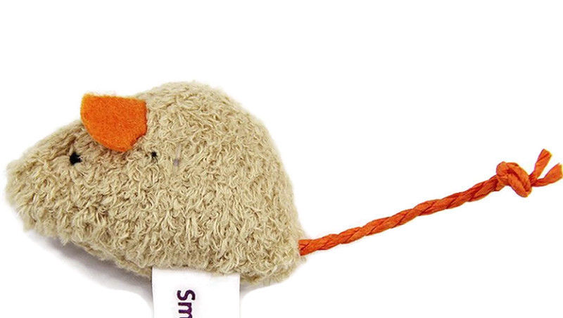 Soft Small Mice Cat Toy, Beige (Pack of 3)