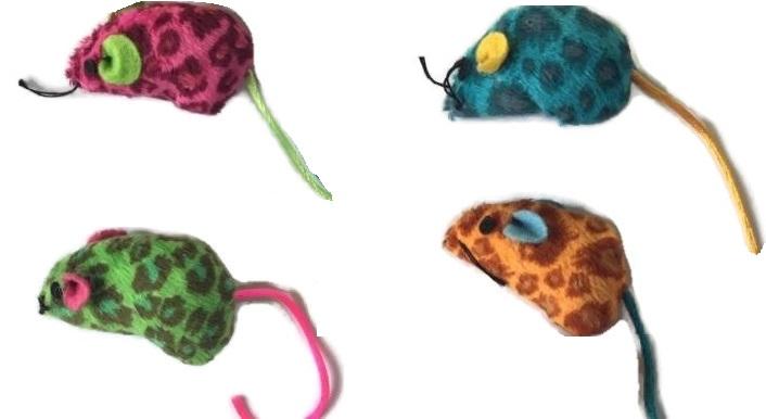 Leopard Print Mice Cat Toy