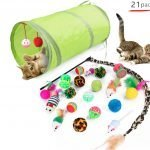 21 Piece Cat Toy Set – Tunnel, Balls, Mice, Scrunchies, Wand