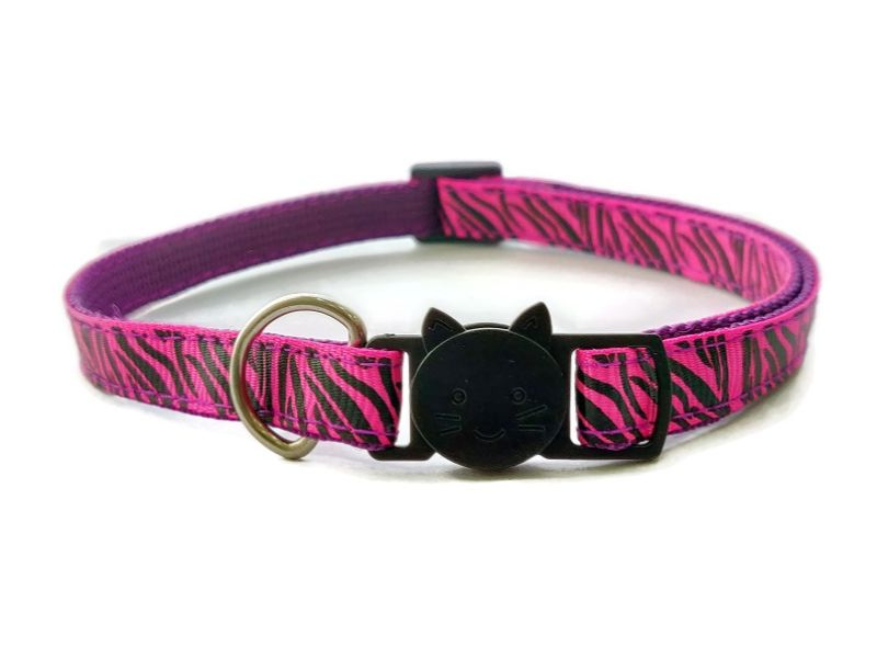 Rose Zebra Stripe Cat Collar
