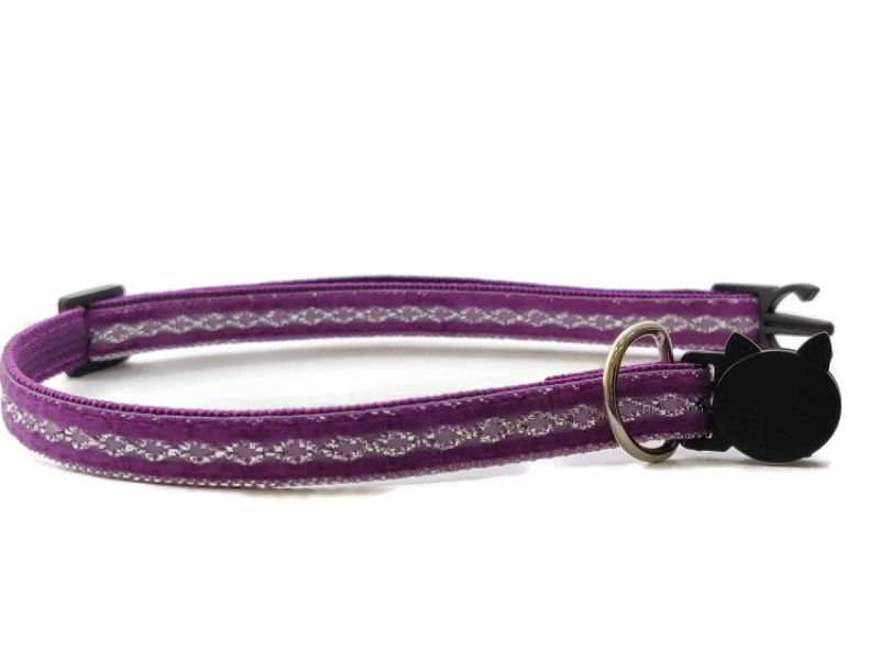 Purple with Sparkle Cat Collar (Single Sided ...