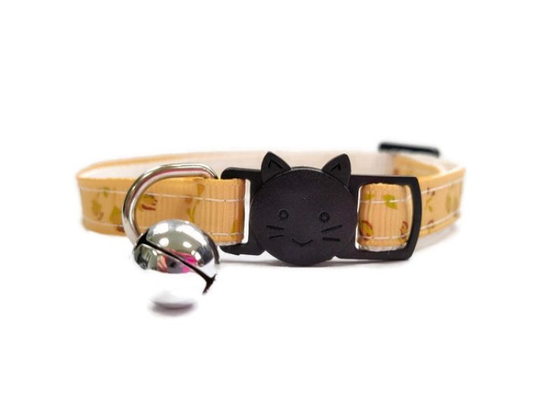 Gold with Gold Roses Cat Collar