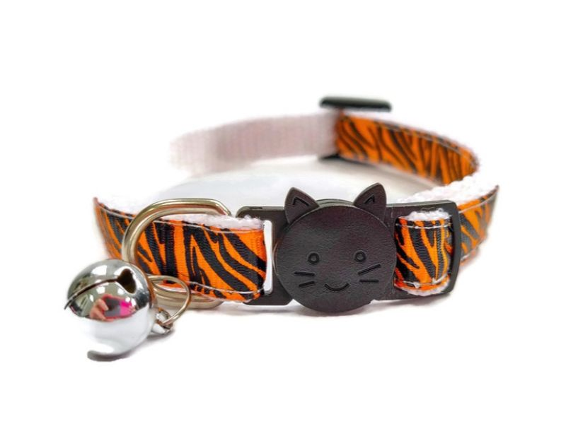 Orange Zebra Cat Collar