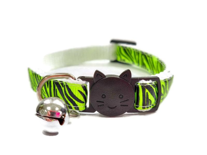 Light Green Zebra Cat Collar