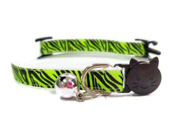 Light Green Zebra Kitten Collar
