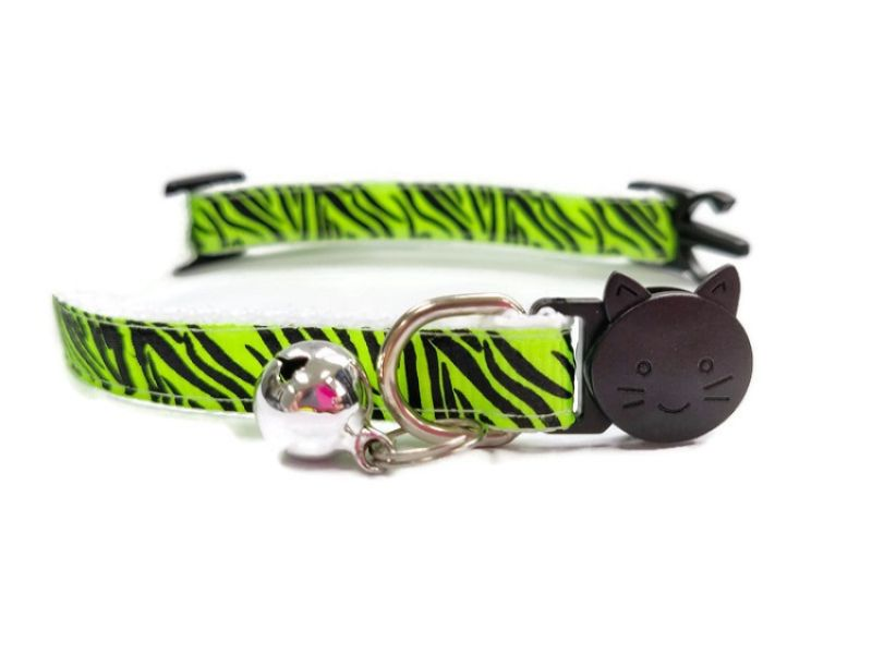 Light Green Zebra Kitten Collar