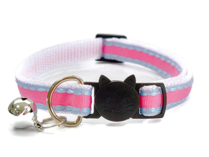 Rose with Blue Edges Cat Collar