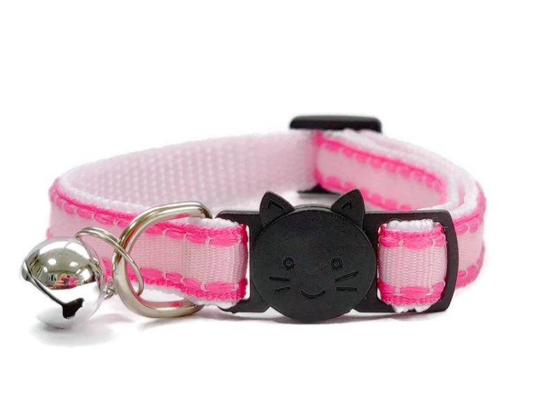 Pink with Rose Edges Cat Collar