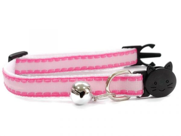 Pink with Rose Edges Kitten Collar