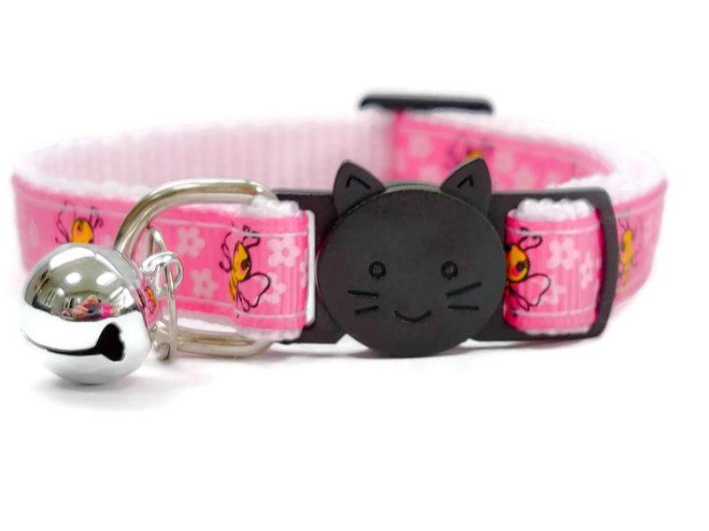Pink Bee Design Cat Collar