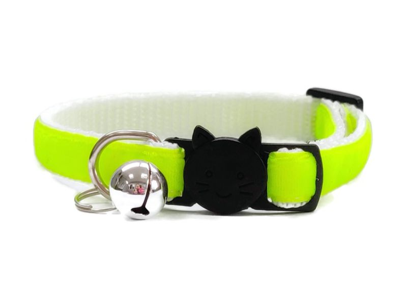 Neon Green Velvet Cat Collar (Single Sided)