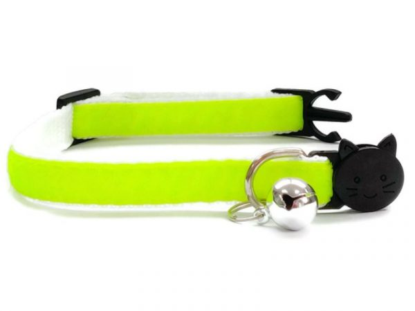 Neon Green Velvet Kitten Collar