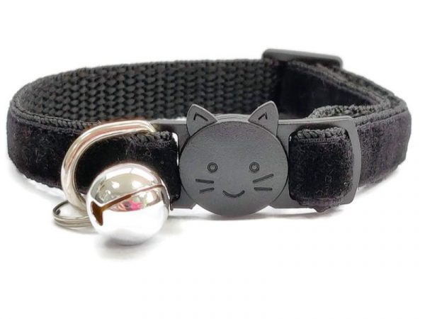 Black Velvet Cat Collar