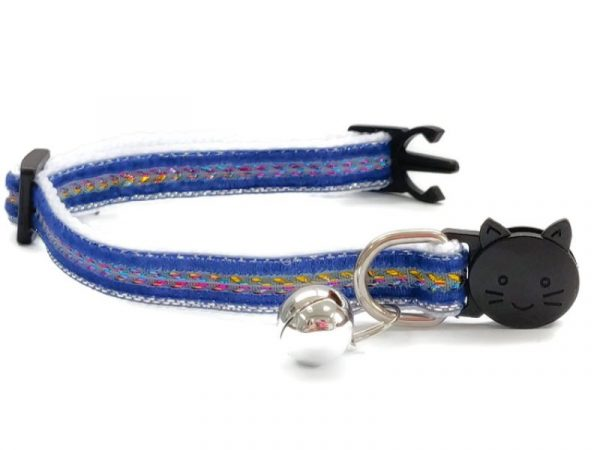 Navy Blue with Sparkle Velvet Kitten Collar