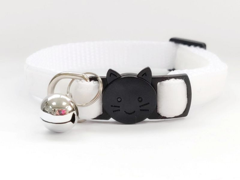 White Velvet Cat Collar (Single Sided Velvet)