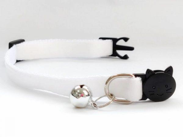 White Velvet Kitten Collar