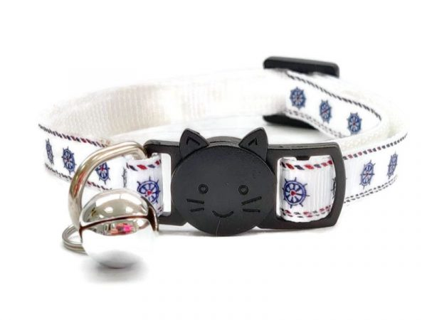 Boat Wheel Print Cat Collar