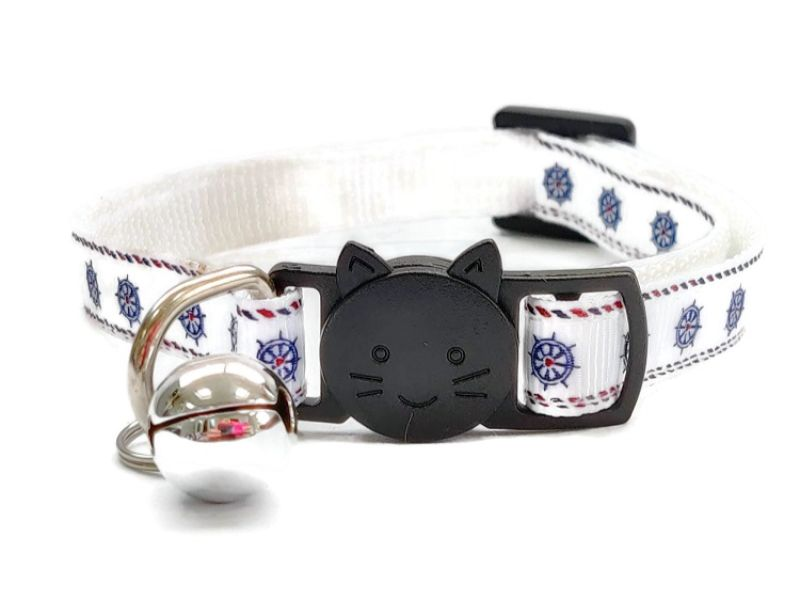Boat Wheel Print Cat Collar