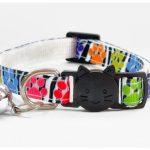 Paw Print Design Cat Collar