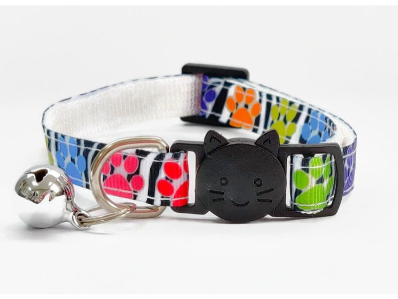 Paw Print Zebra Design Cat Collar