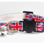 Union Jack Print Cat Collar