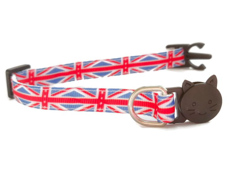 Union Jack Flag Print Cat Collar