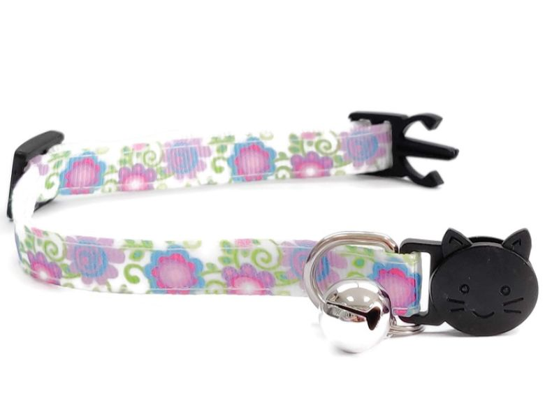 Flower Swirl Print Cat Collar
