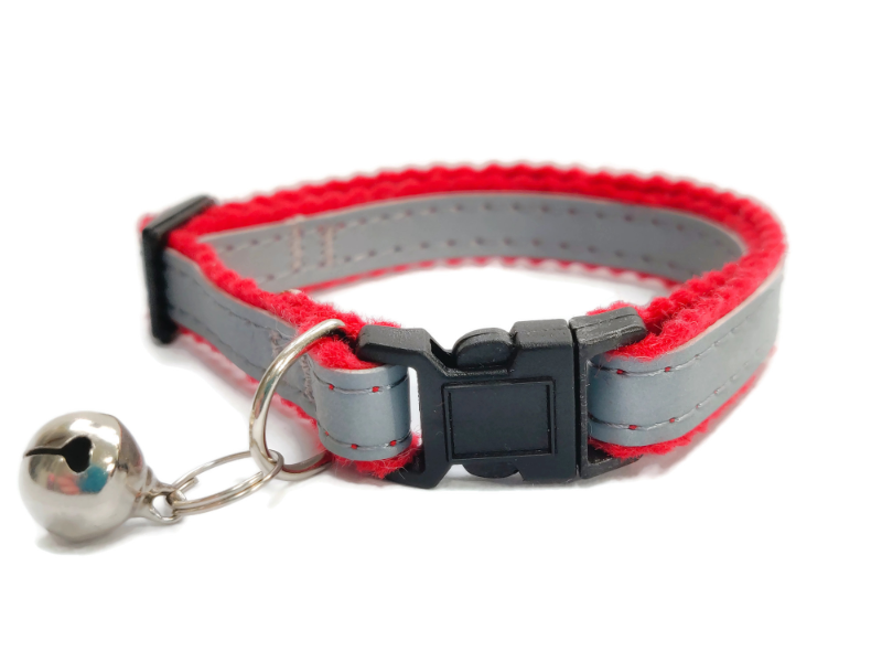 Super Soft Cat Collars, Red