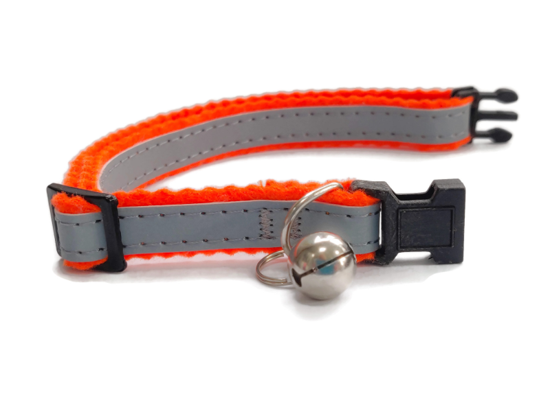 Super Soft Cat Collars, Orange