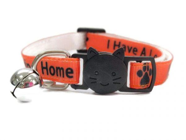 'I Have A loving Home' (Orange) Cat Collar