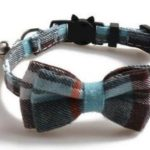 Luxury Blue & Brown Chequered Cat Collar