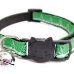 Christmas Cat Collar – Green with Trees & Snow