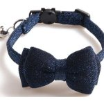 Luxury Blue Sparkle Glitter with Bow Cat Collar