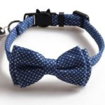 Luxury Blue Diamante with Bow Cat Collar