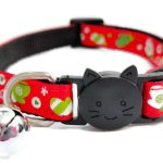 Christmas Cat Collar – Red with Christmas Gloves