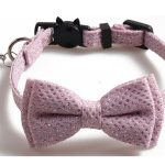 Luxury Pink Diamante with Bow Cat Collar