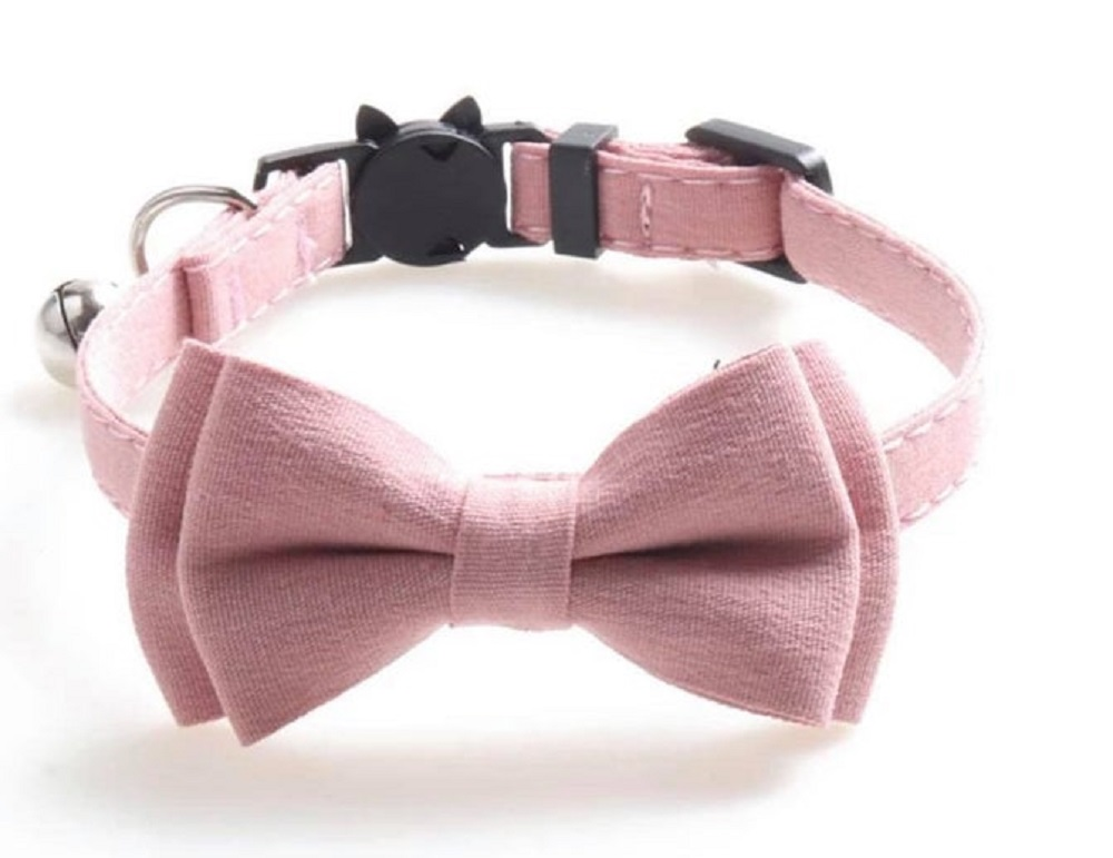 Luxury Pink Cat Collar with Bow