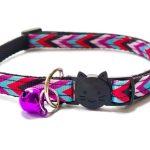 Multi Colour Chevron Style Cat Collar