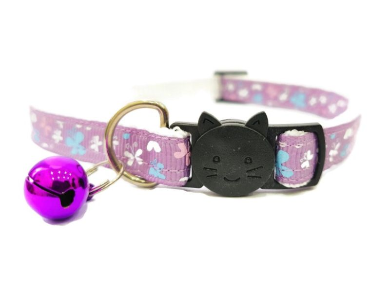 Lilac with Butterflies Cat Collar