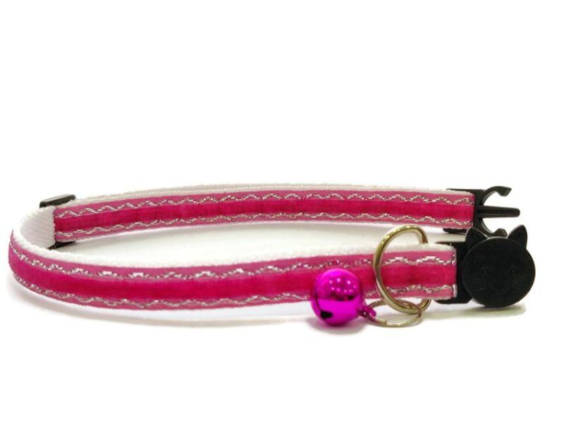 Rose Velvet Sparkle Cat Collar (Single Sided Velvet)