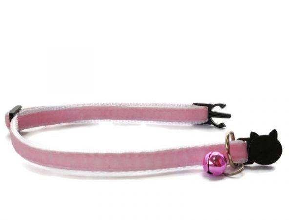 Baby Pink Velvet Kitten Collar