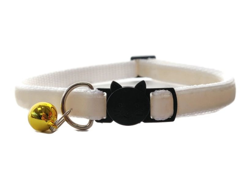 Cream Velvet Cat Collar (Single Sided Velvet)