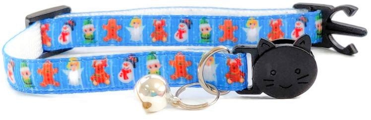 Christmas Collar – Blue with Ginge...
